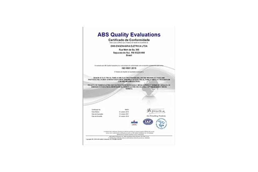 ISO 9001:2015 – Certificação
